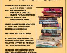 Peaslee 5th Grade Collecting Used Books and Games