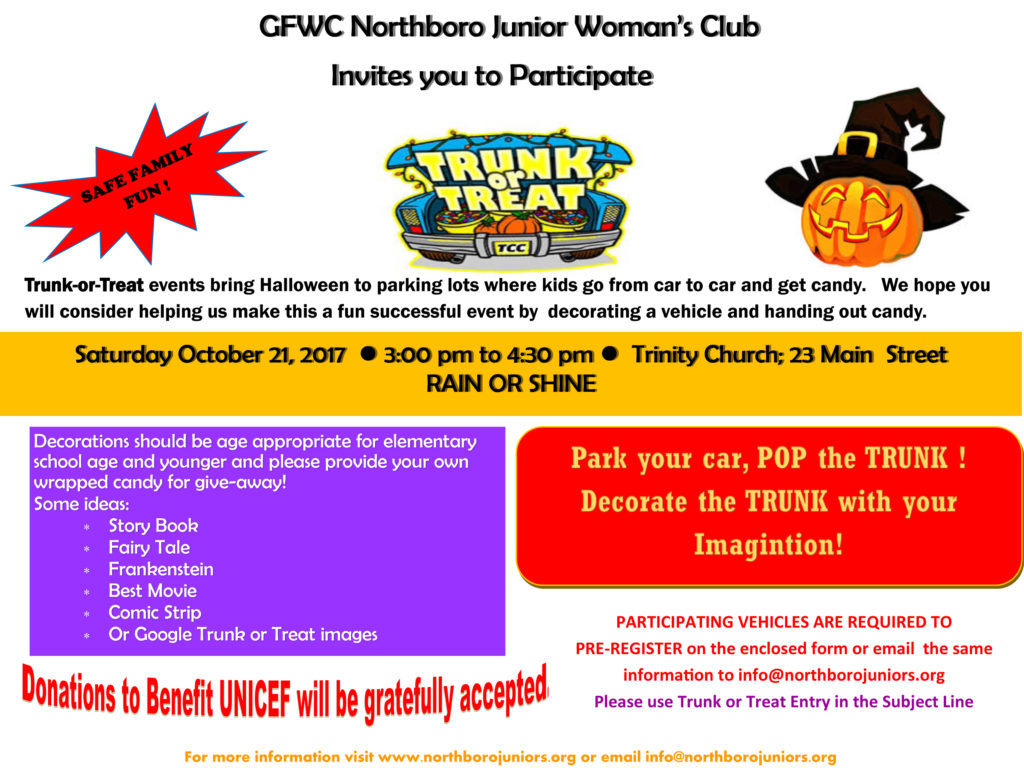 Trunk or Treat » The Northborough Guide
